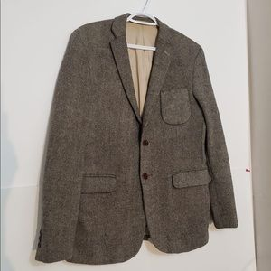 United Tailors Brown Tweed Double Button MenBlazer